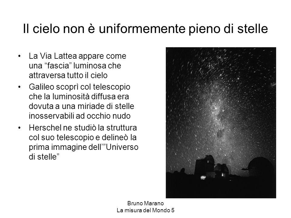 """Bruno Marano La misura del Mondo 5 Il cielo non è uniformemente pieno di stelle La Via Lattea appare come una """"fascia"""" luminosa che attraversa tutto i"""