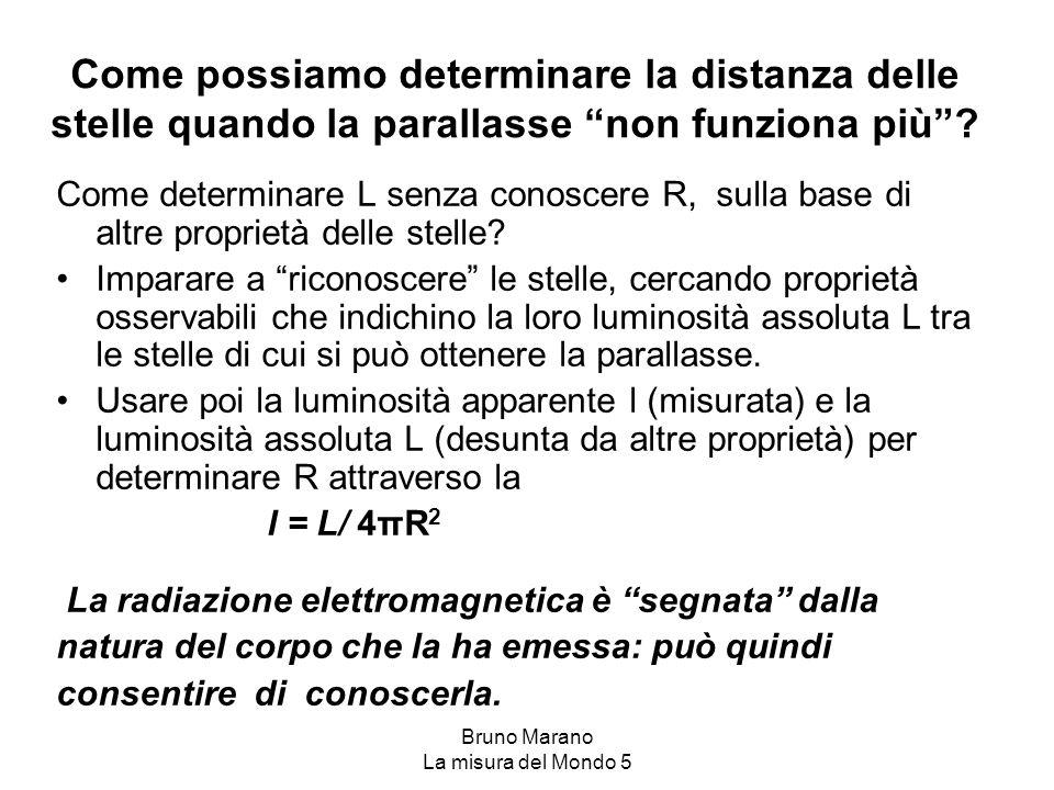 """Bruno Marano La misura del Mondo 5 Come possiamo determinare la distanza delle stelle quando la parallasse """"non funziona più""""? Come determinare L senz"""