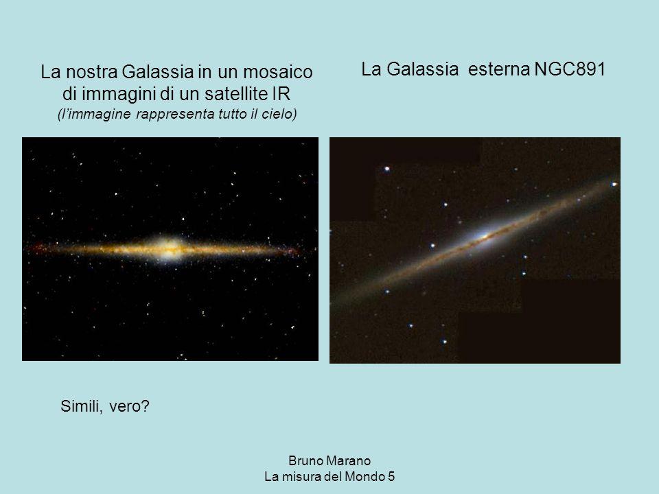 Bruno Marano La misura del Mondo 5 La nostra Galassia in un mosaico di immagini di un satellite IR (l'immagine rappresenta tutto il cielo) La Galassia