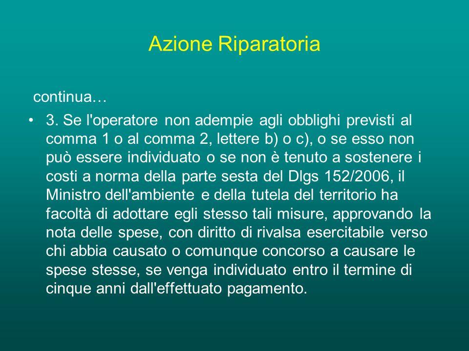 Azione Riparatoria continua… 3.
