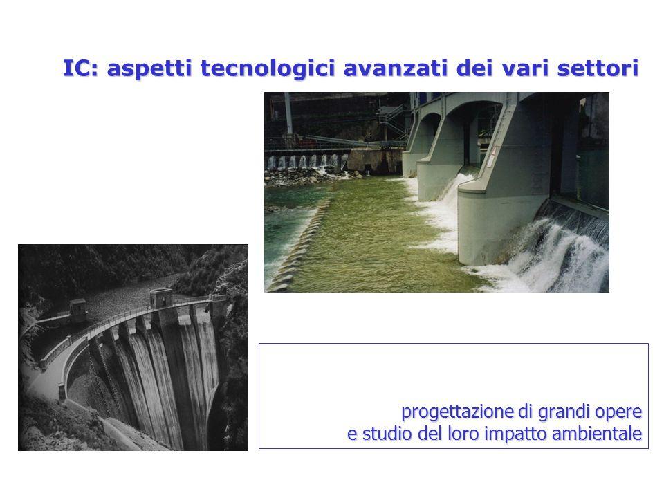 IC: aspetti tecnologici avanzati dei vari settori progettazione di grandi opere e studio del loro impatto ambientale