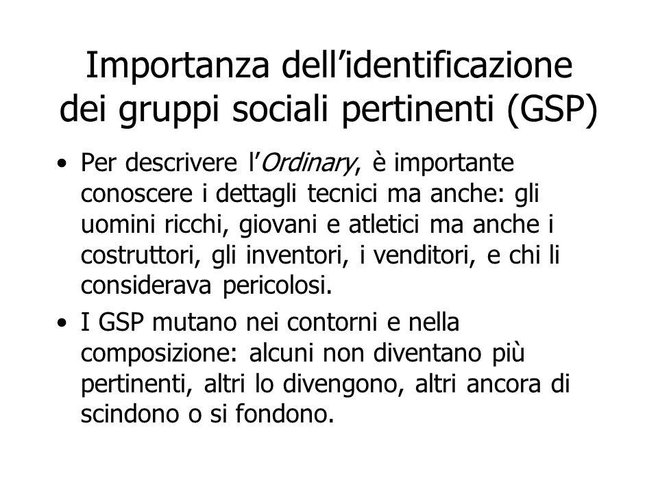 Importanza dell'identificazione dei gruppi sociali pertinenti (GSP) Per descrivere l'Ordinary, è importante conoscere i dettagli tecnici ma anche: gli