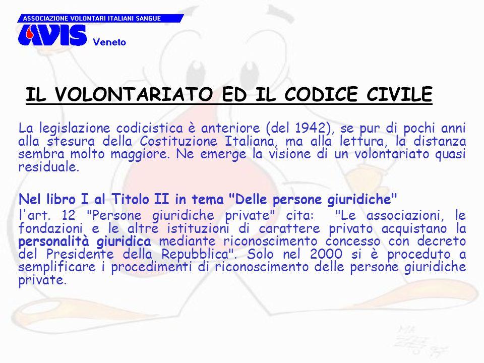 La legislazione codicistica è anteriore (del 1942), se pur di pochi anni alla stesura della Costituzione Italiana, ma alla lettura, la distanza sembra molto maggiore.