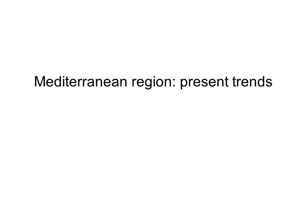 Mediterranean region: present trends