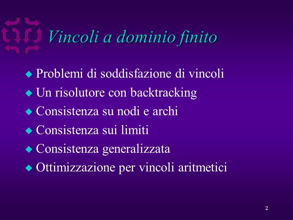 33 Consistenza sui limiti u E I vincoli primitivi con piu' di 2 variabili.