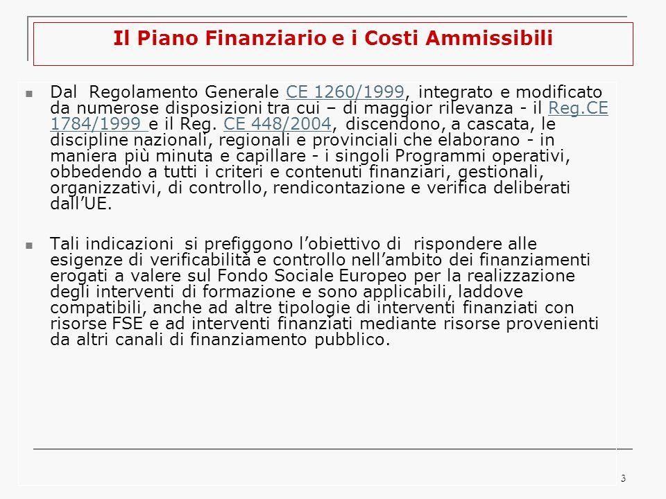 4 3.Come si costruisce il Piano Finanziario La corretta predisposizione del PED si fonda su: 1.