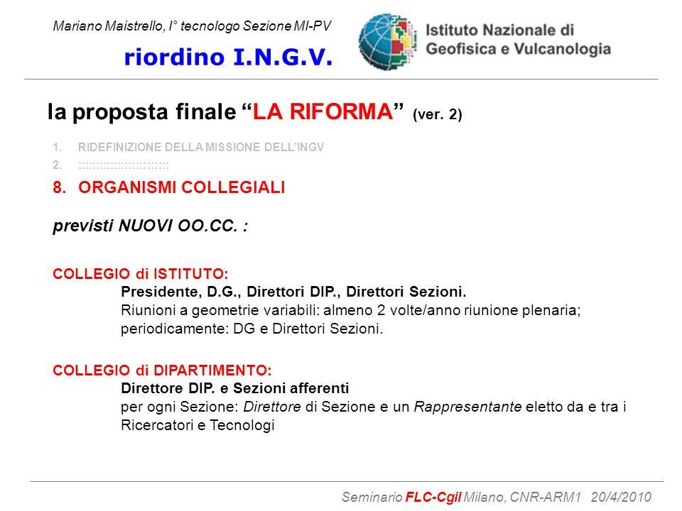 la proposta finale LA RIFORMA (ver.