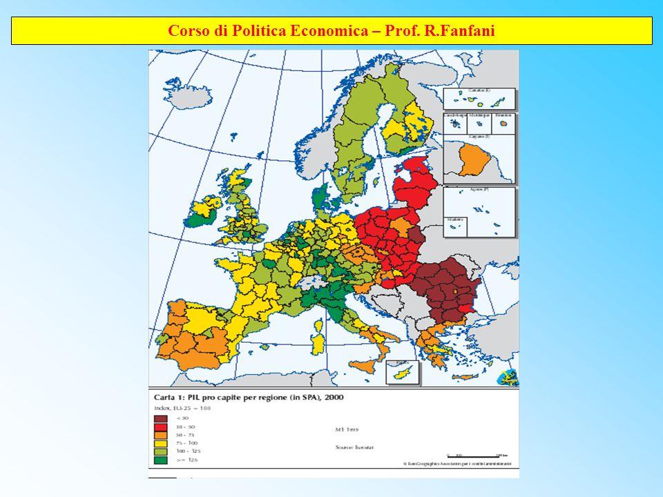 Corso di Politica Economica – Prof. R.Fanfani