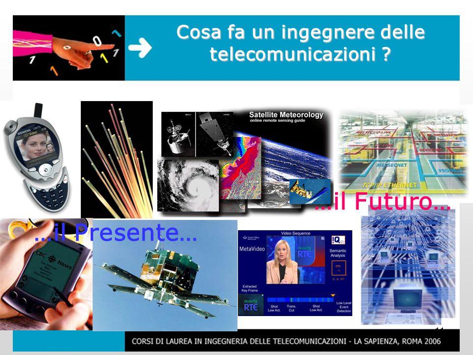 11 Cosa fa un ingegnere delle telecomunicazioni …il Presente… …il Futuro…