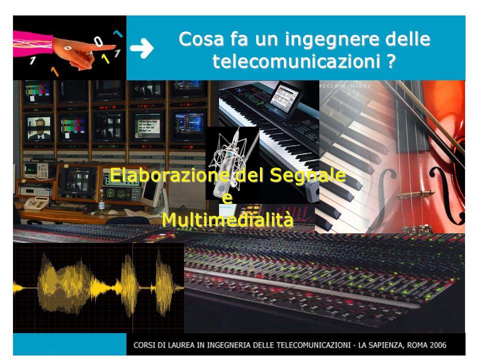 17 Cosa fa un ingegnere delle telecomunicazioni Elaborazione del Segnale e Multimedialità
