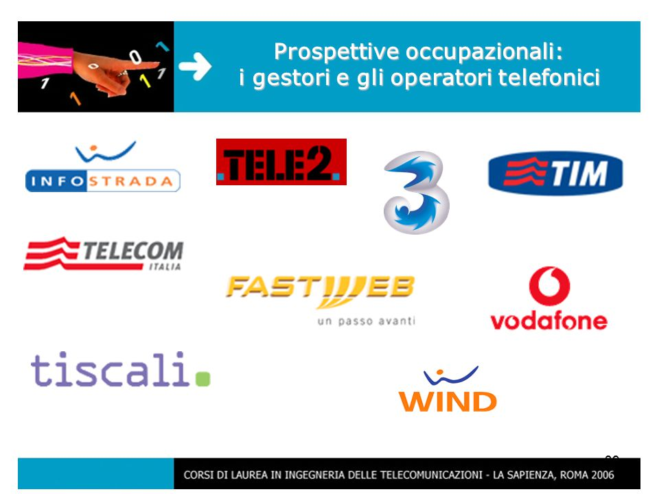 39 Prospettive occupazionali: i gestori e gli operatori telefonici
