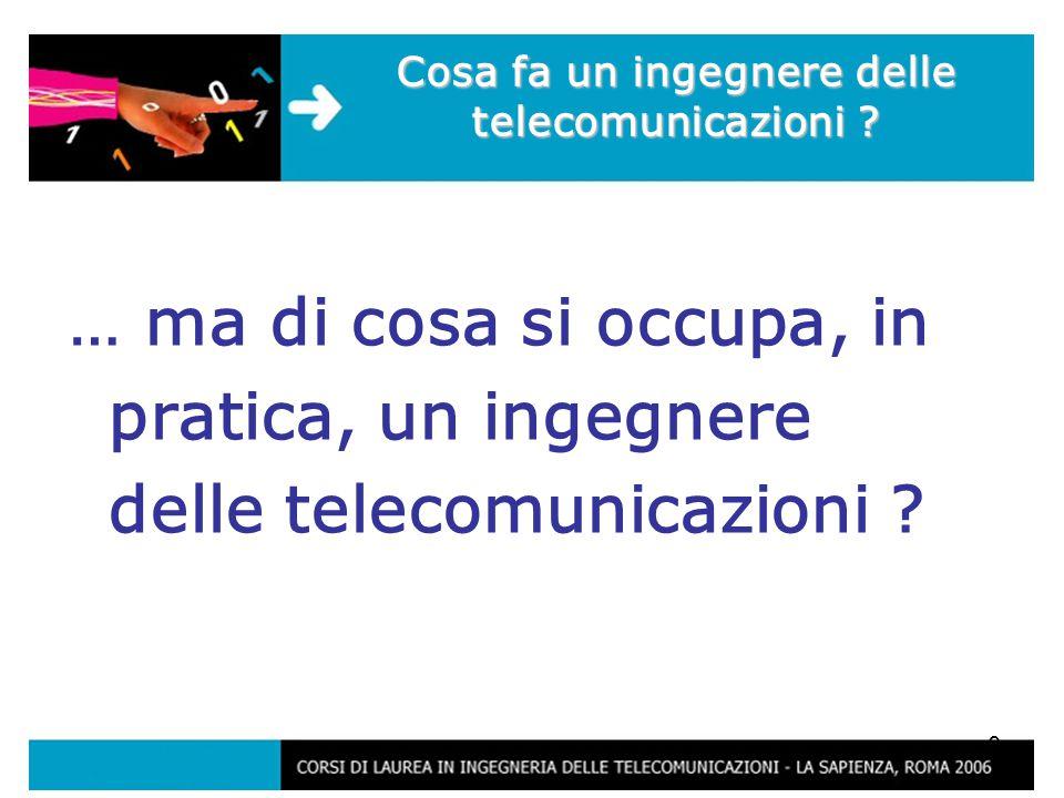 9 … ma di cosa si occupa, in pratica, un ingegnere delle telecomunicazioni .