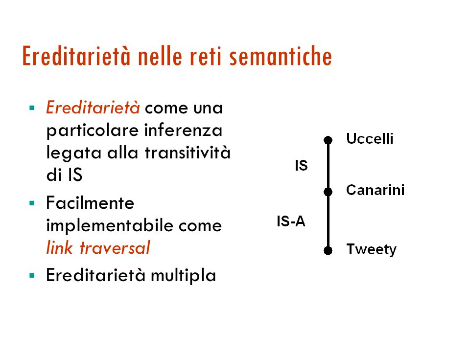 Definizione di rete semantica  Le reti semantiche sono una grande famiglia di schemi di rappresentazione a grafo .