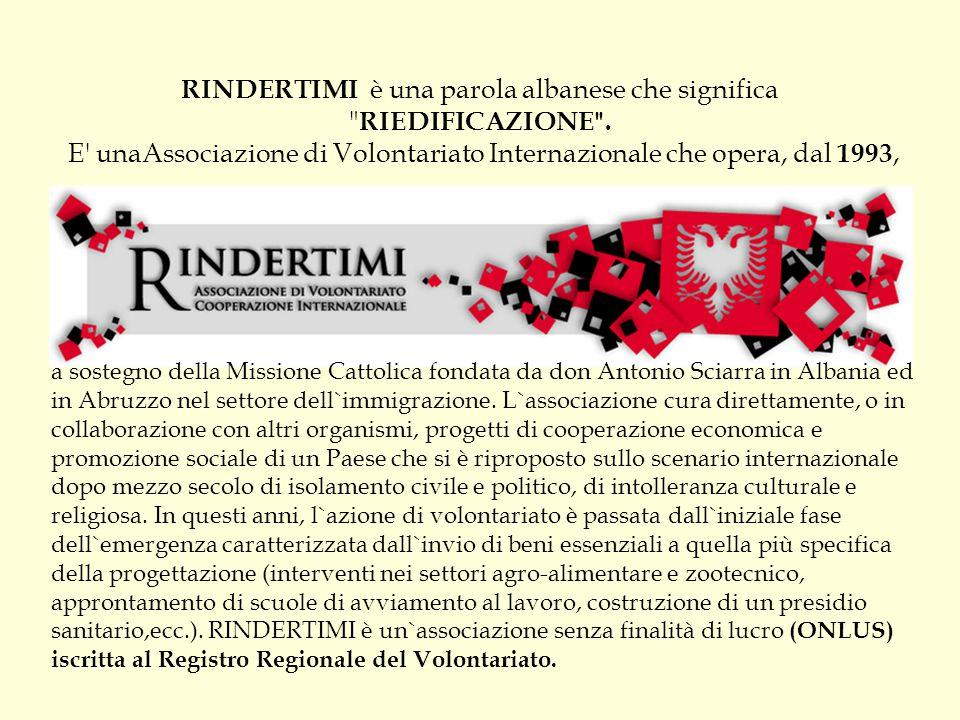 RINDERTIMI è una parola albanese che significa