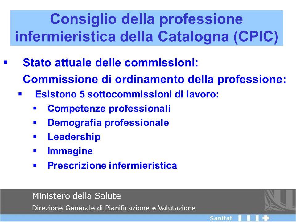  Stato attuale delle commissioni: Commissione di ordinamento della professione:  Esistono 5 sottocommissioni di lavoro:  Competenze professionali 