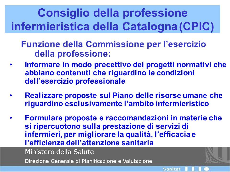 Funzione della Commissione per l'esercizio della professione: Informare in modo precettivo dei progetti normativi che abbiano contenuti che riguardino