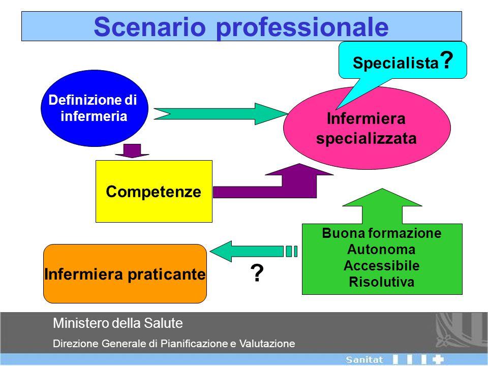 Departament de Salut Ministero della Salute Direzione Generale di Pianificazione e Valutazione Scenario professionale Definizione di infermeria Inferm
