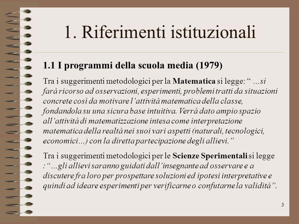 4 1.2 I programmi della scuola elementare (1985) Dal commento ai programmi di M.