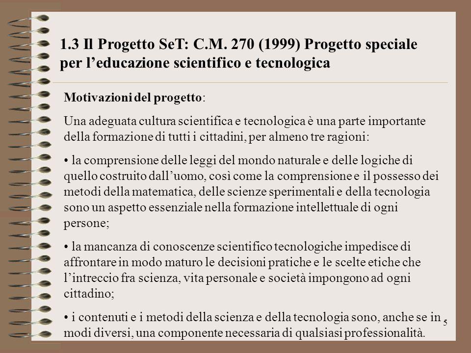 6 Tematiche presenti nel Progetto SeT 10.