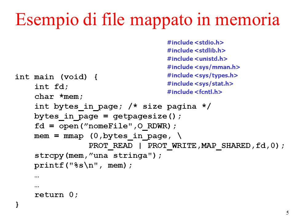 6 Paginazione in UNIX The core map in 4BSD.