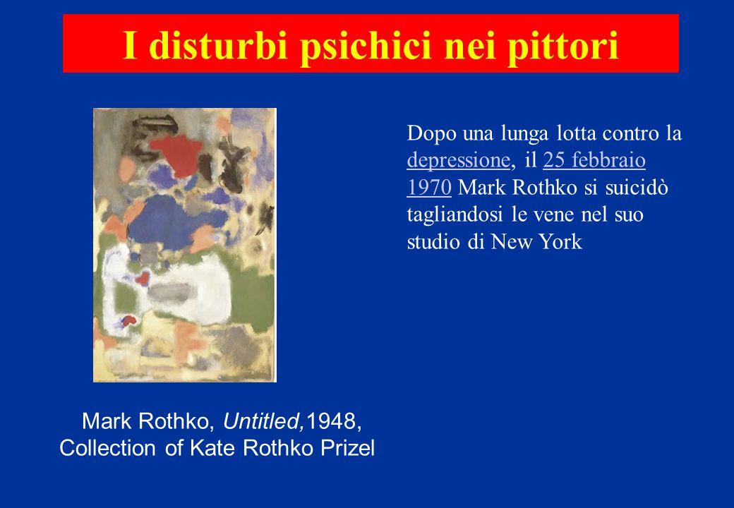 Dopo una lunga lotta contro la depressione, il 25 febbraio 1970 Mark Rothko si suicidò tagliandosi le vene nel suo studio di New York depressione25 fe