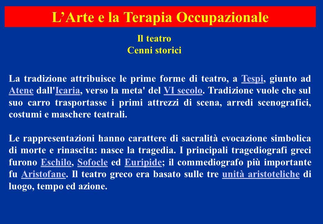 Il teatro Cenni storici La tradizione attribuisce le prime forme di teatro, a Tespi, giunto ad Atene dall'Icaria, verso la meta' del VI secolo. Tradiz
