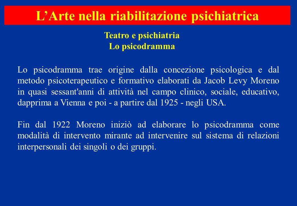 Lo psicodramma trae origine dalla concezione psicologica e dal metodo psicoterapeutico e formativo elaborati da Jacob Levy Moreno in quasi sessant'ann