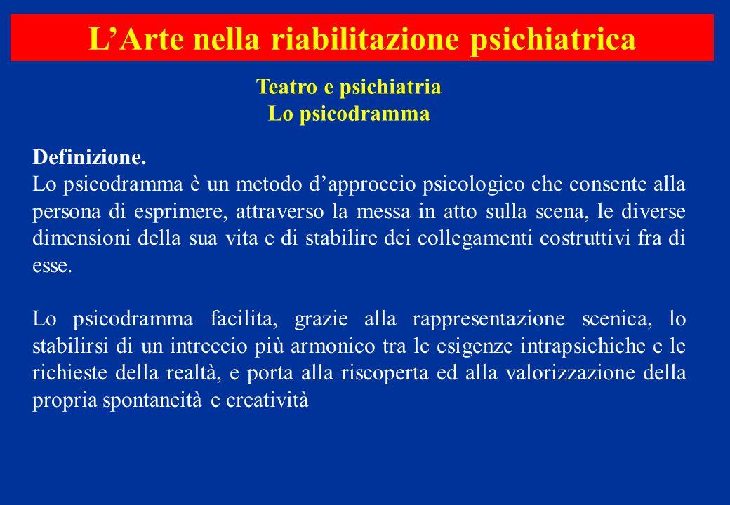Definizione. Lo psicodramma è un metodo d'approccio psicologico che consente alla persona di esprimere, attraverso la messa in atto sulla scena, le di