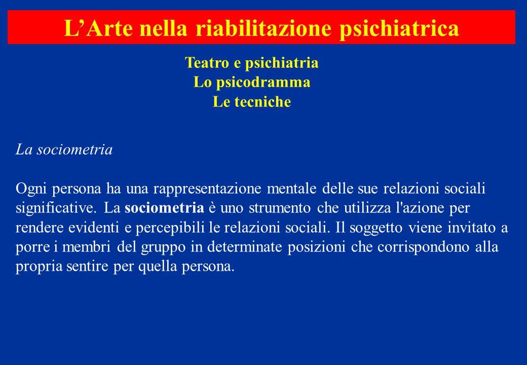 La sociometria Ogni persona ha una rappresentazione mentale delle sue relazioni sociali significative. La sociometria è uno strumento che utilizza l'a