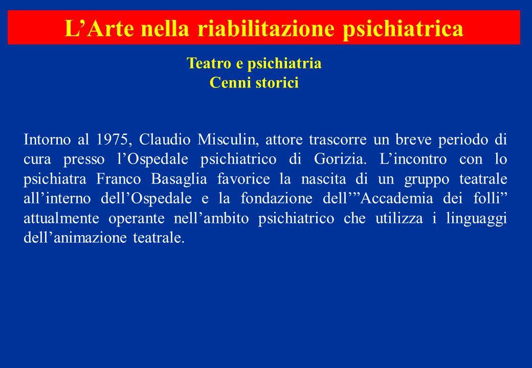 Intorno al 1975, Claudio Misculin, attore trascorre un breve periodo di cura presso l'Ospedale psichiatrico di Gorizia. L'incontro con lo psichiatra F