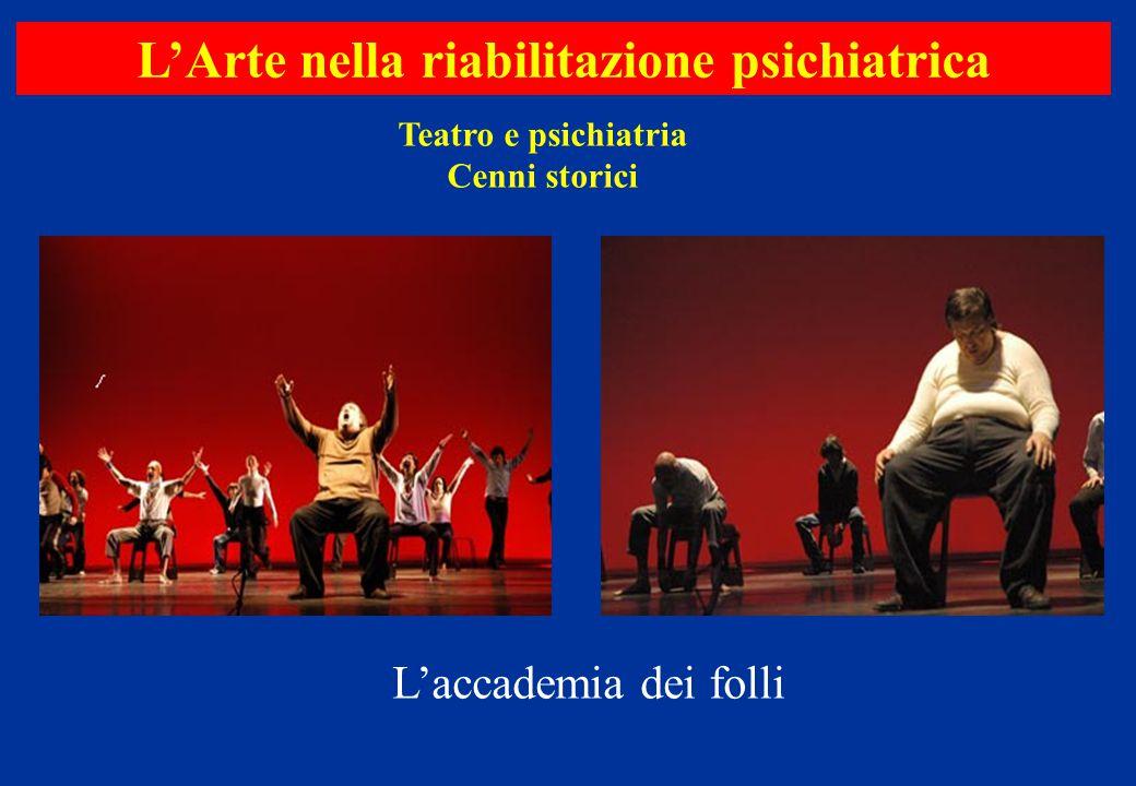 Teatro e psichiatria Cenni storici L'Arte nella riabilitazione psichiatrica L'accademia dei folli