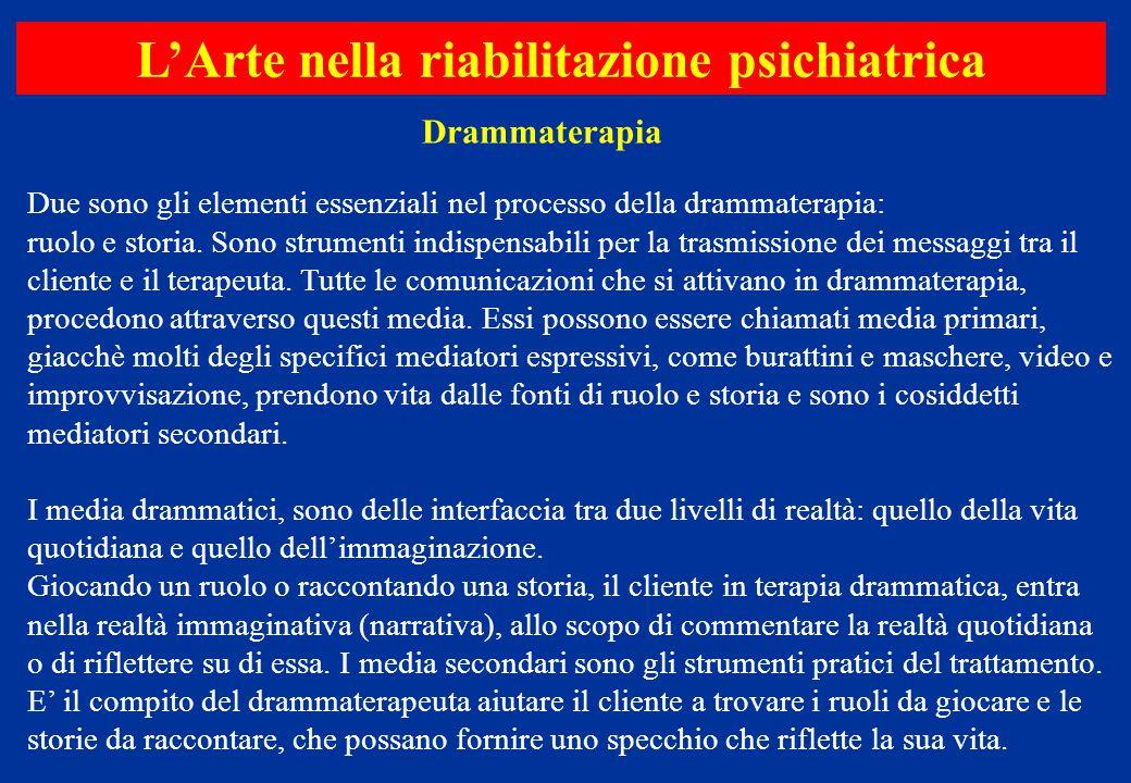 Due sono gli elementi essenziali nel processo della drammaterapia: ruolo e storia. Sono strumenti indispensabili per la trasmissione dei messaggi tra