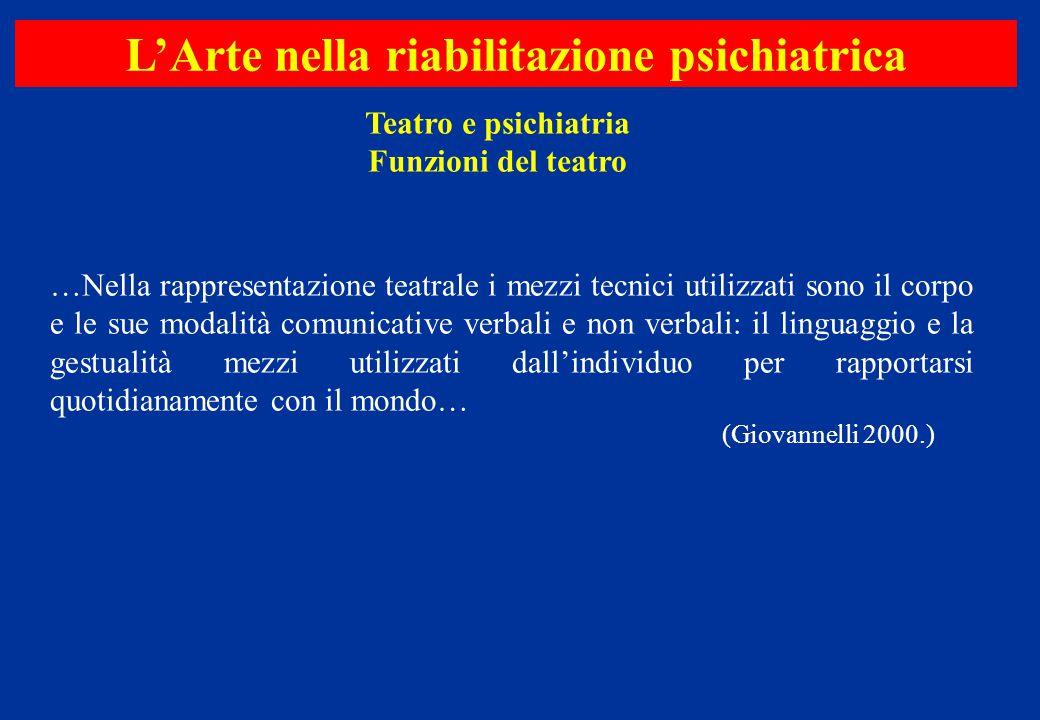 …Nella rappresentazione teatrale i mezzi tecnici utilizzati sono il corpo e le sue modalità comunicative verbali e non verbali: il linguaggio e la ges