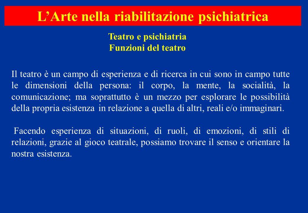 Il teatro è un campo di esperienza e di ricerca in cui sono in campo tutte le dimensioni della persona: il corpo, la mente, la socialità, la comunicaz