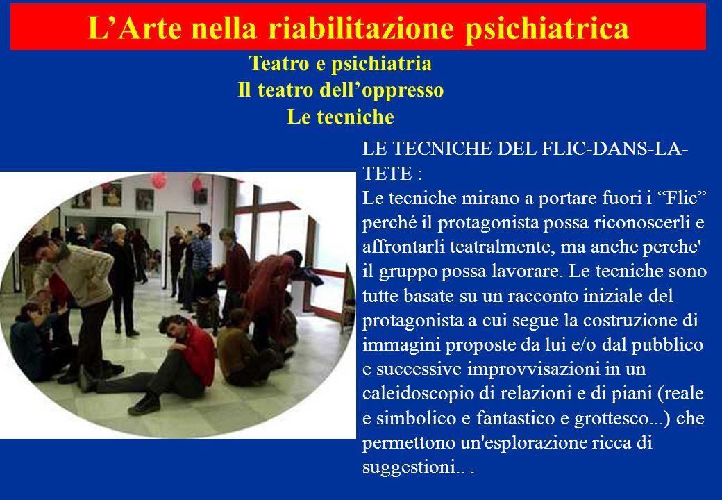 Teatro e psichiatria Il teatro dell'oppresso Le tecniche L'Arte nella riabilitazione psichiatrica LE TECNICHE DEL FLIC-DANS-LA- TETE : Le tecniche mir