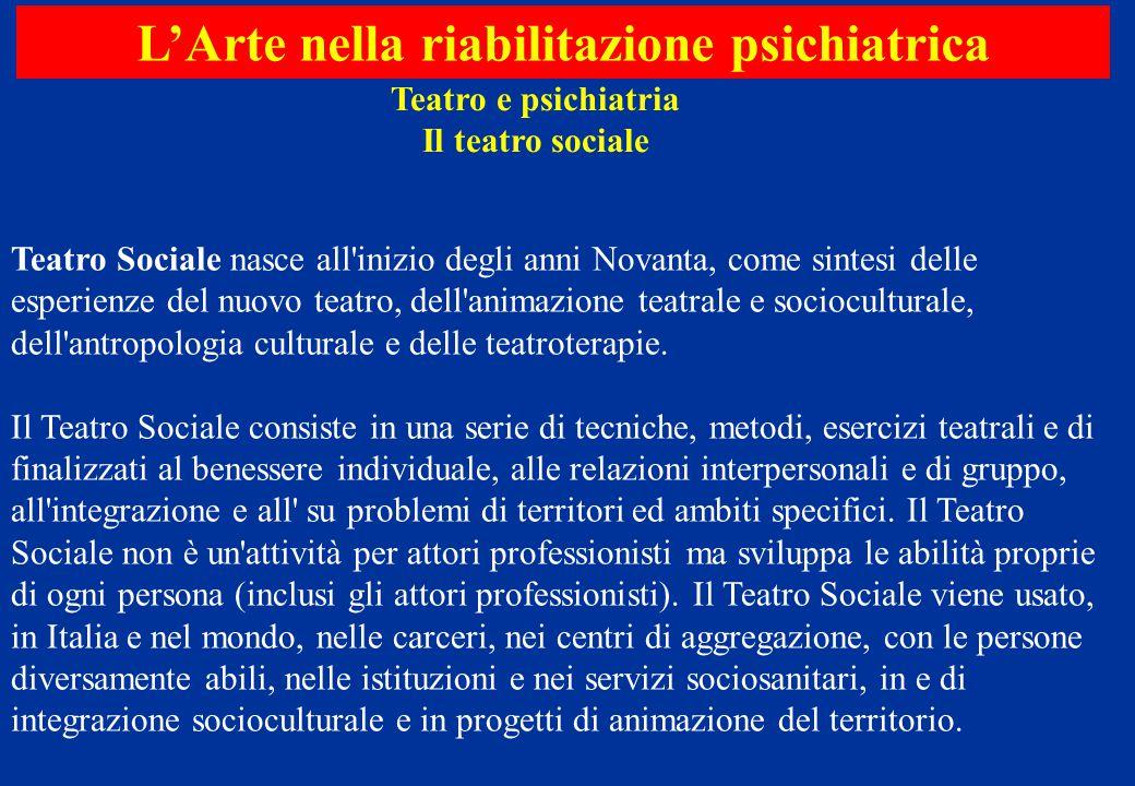 Teatro Sociale nasce all'inizio degli anni Novanta, come sintesi delle esperienze del nuovo teatro, dell'animazione teatrale e socioculturale, dell'an
