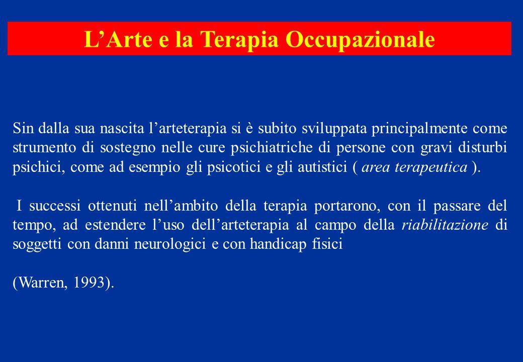 Sin dalla sua nascita l'arteterapia si è subito sviluppata principalmente come strumento di sostegno nelle cure psichiatriche di persone con gravi dis