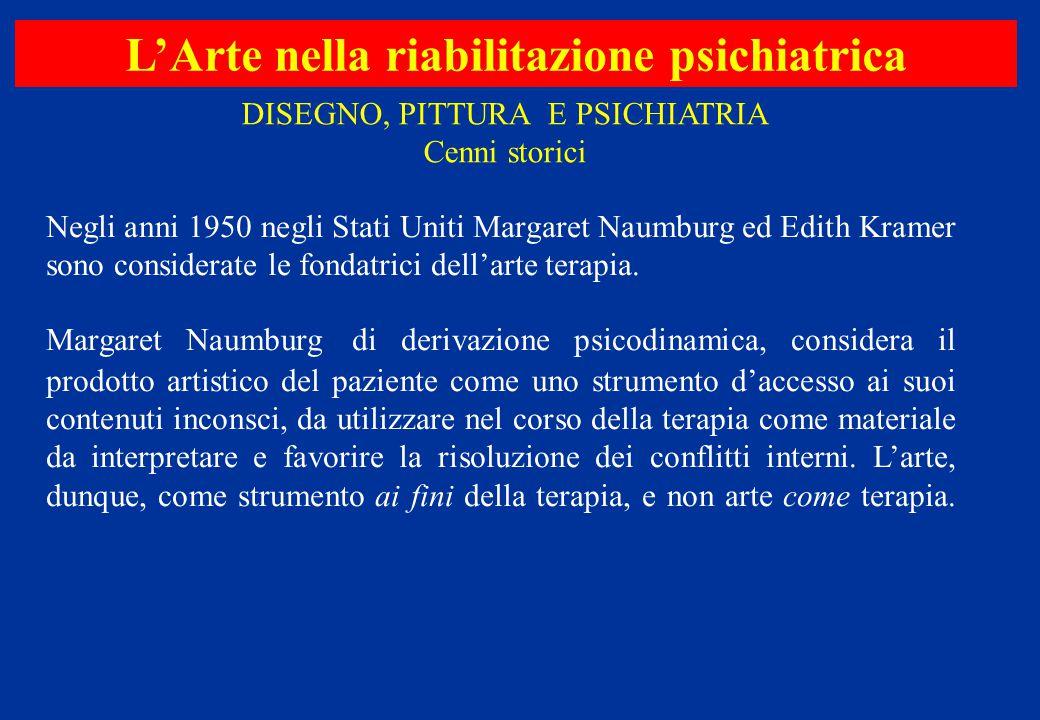 Negli anni 1950 negli Stati Uniti Margaret Naumburg ed Edith Kramer sono considerate le fondatrici dell'arte terapia. Margaret Naumburg di derivazione