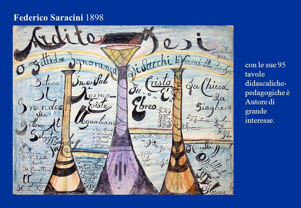 con le sue 95 tavole didascaliche- pedagogiche è Autore di grande interesse. Federico Saracini 1898
