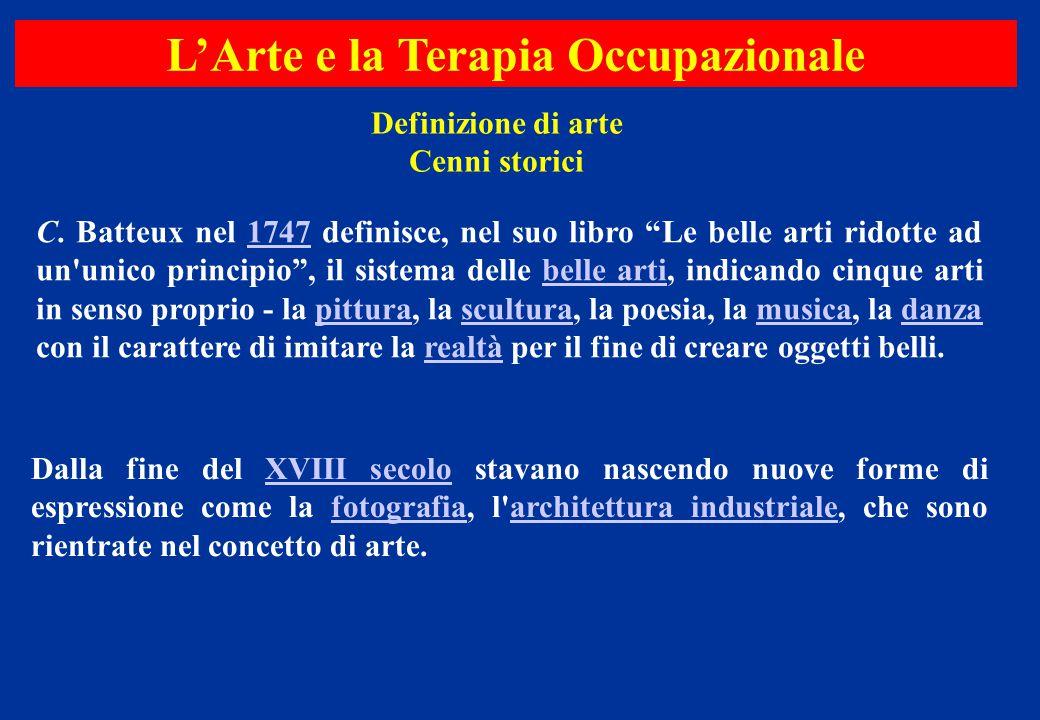 """Definizione di arte Cenni storici C. Batteux nel 1747 definisce, nel suo libro """"Le belle arti ridotte ad un'unico principio"""", il sistema delle belle a"""