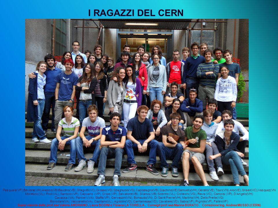 I RAGAZZI DEL CERN Pasquale(VF),Bevione(VH),Alescio(VB)Baudino(VB),Stragiotti(VC),Grosso(VG),Spagnuolo(VG),Capostagno(VB),Giachino(VE)Samuelly(VH),Cer