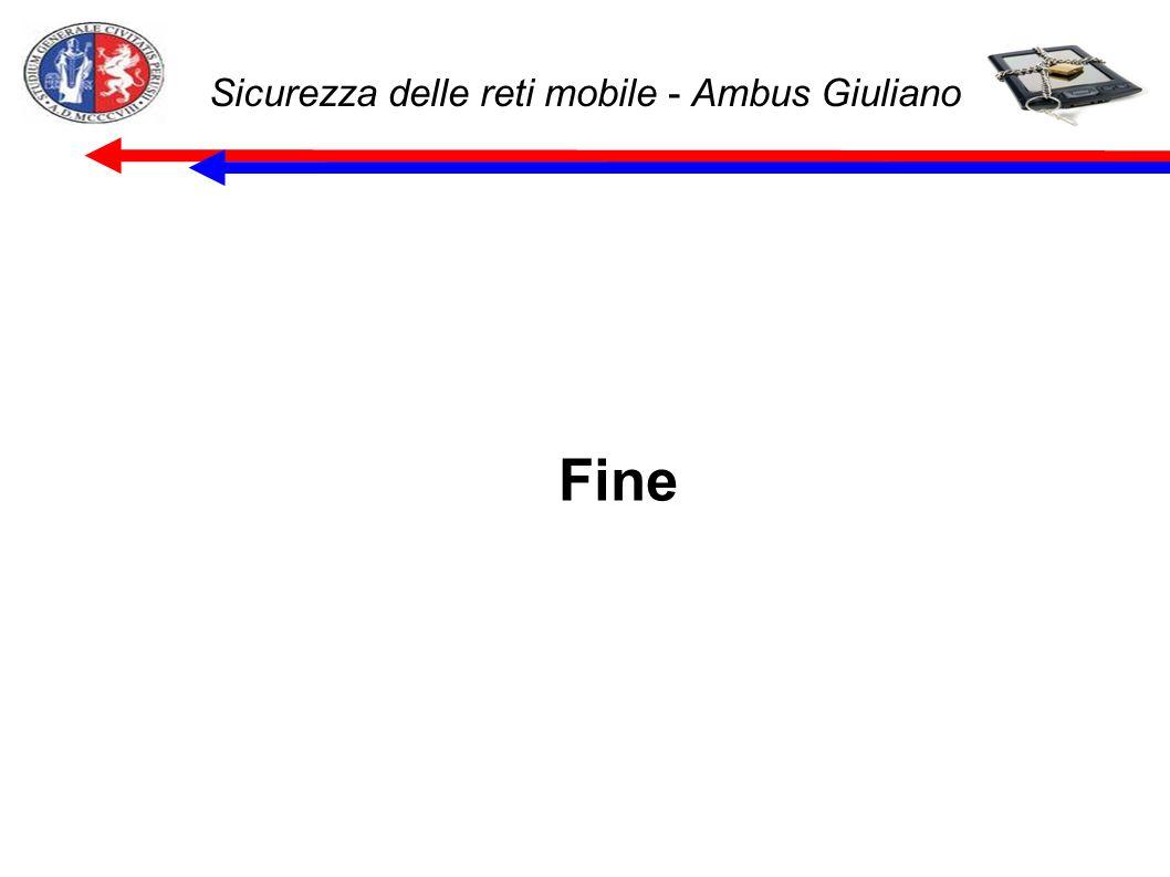 Sicurezza delle reti mobile - Ambus Giuliano Fine