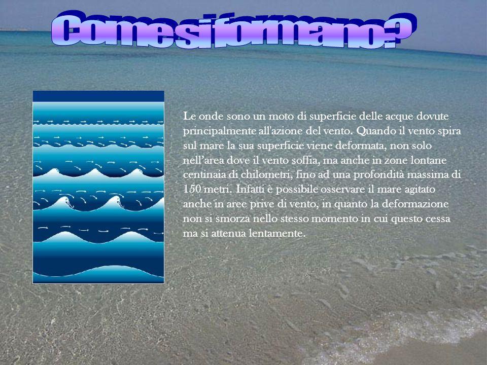 Le onde sono un moto di superficie delle acque dovute principalmente all'azione del vento. Quando il vento spira sul mare la sua superficie viene defo