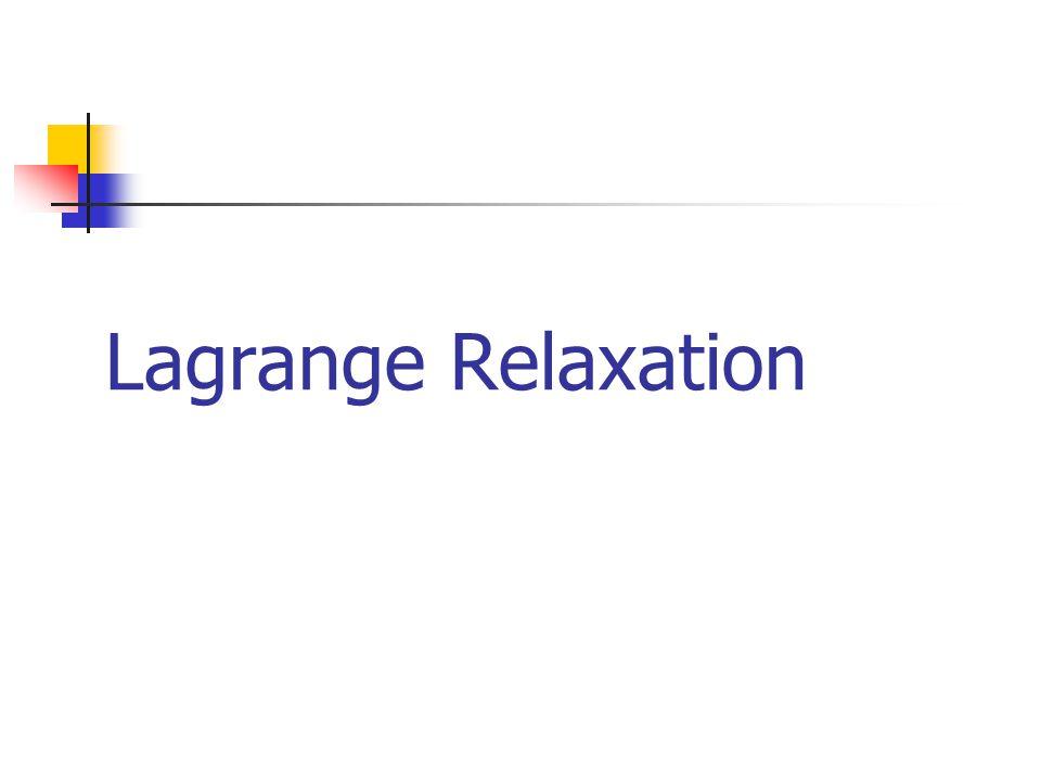 Lagrange Relaxation: Riduzione del numero di archi