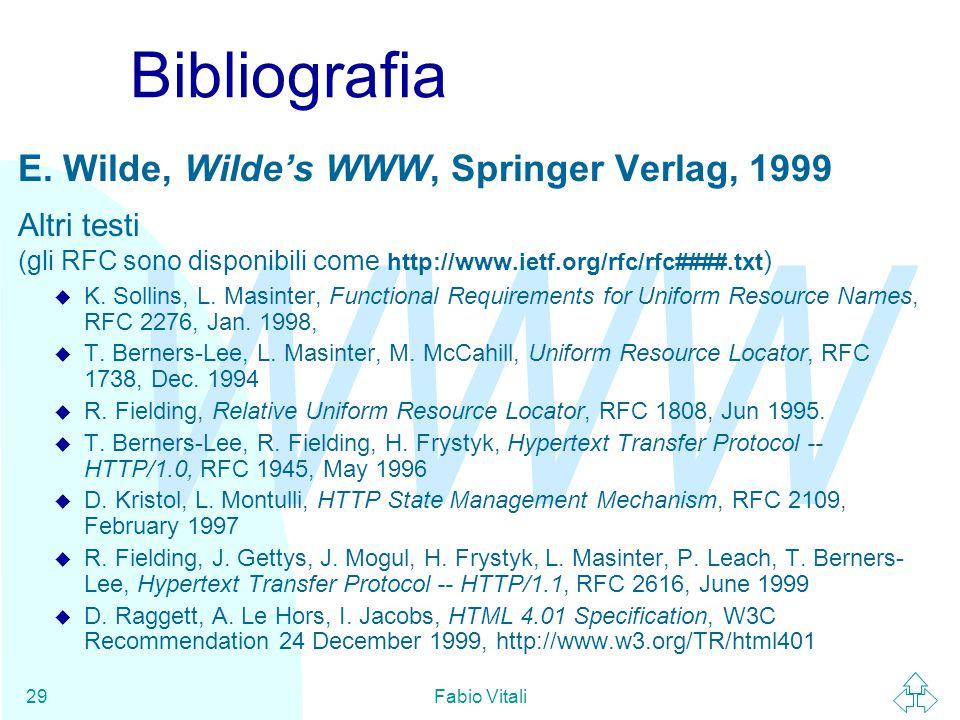 WWW Fabio Vitali29 Bibliografia E.