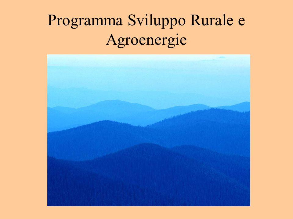 Programma Sviluppo Rurale e Agroenergie