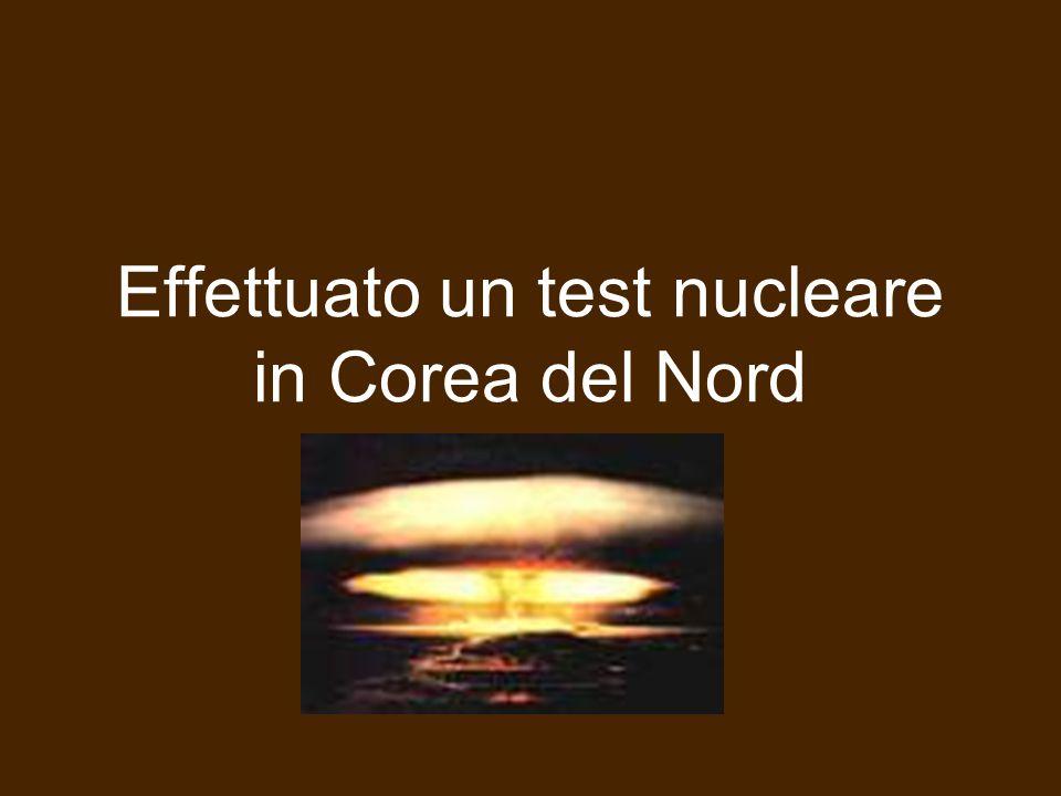 Effettuato un test nucleare in Corea del Nord