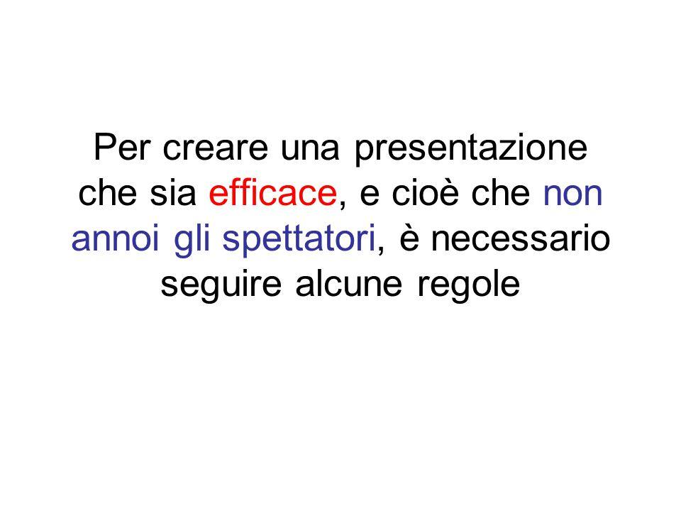 Stringatezza Lo scopo del testo è quello di evidenziare i punti più importanti Limitare il testo nelle diapositive.