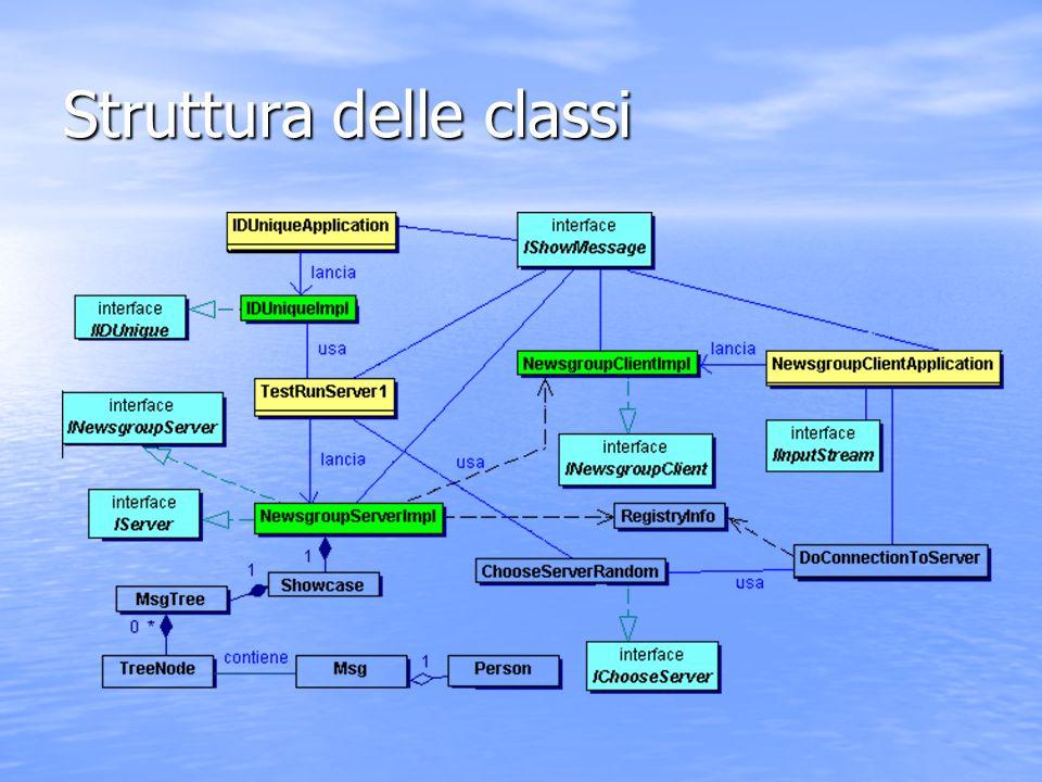 Struttura delle classi