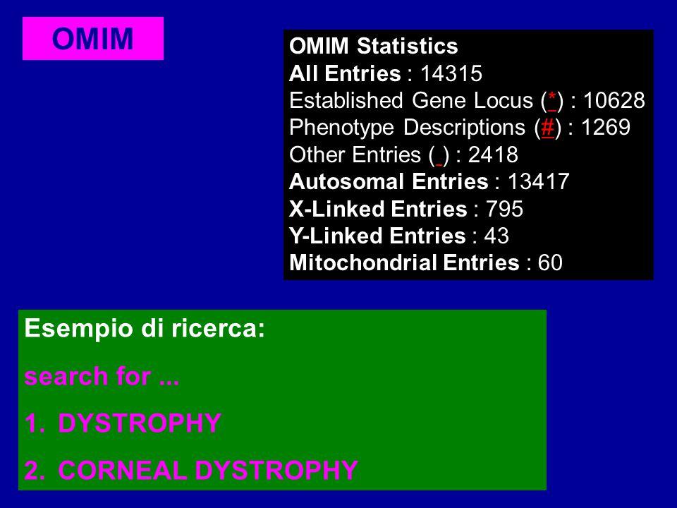 LOCUSLINK Interfaccia unificata per cercare informazioni su sequenze e loci genetici.
